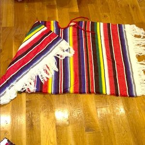 Other - NEW Mexican Striped Pancho Halloween Costume